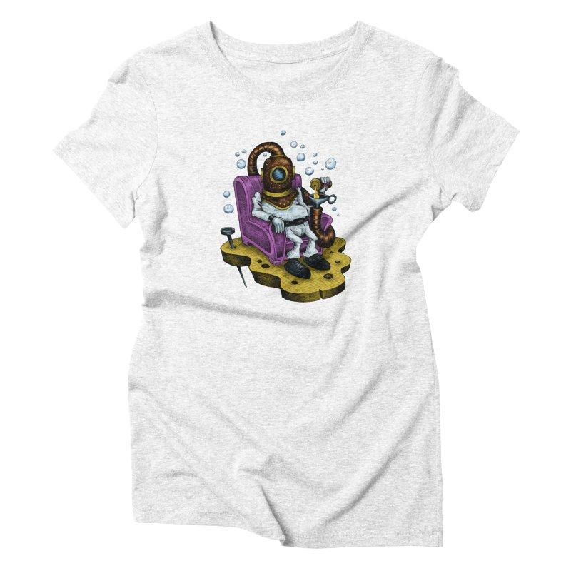 Strong man Women's Triblend T-shirt by irrthum's Shop