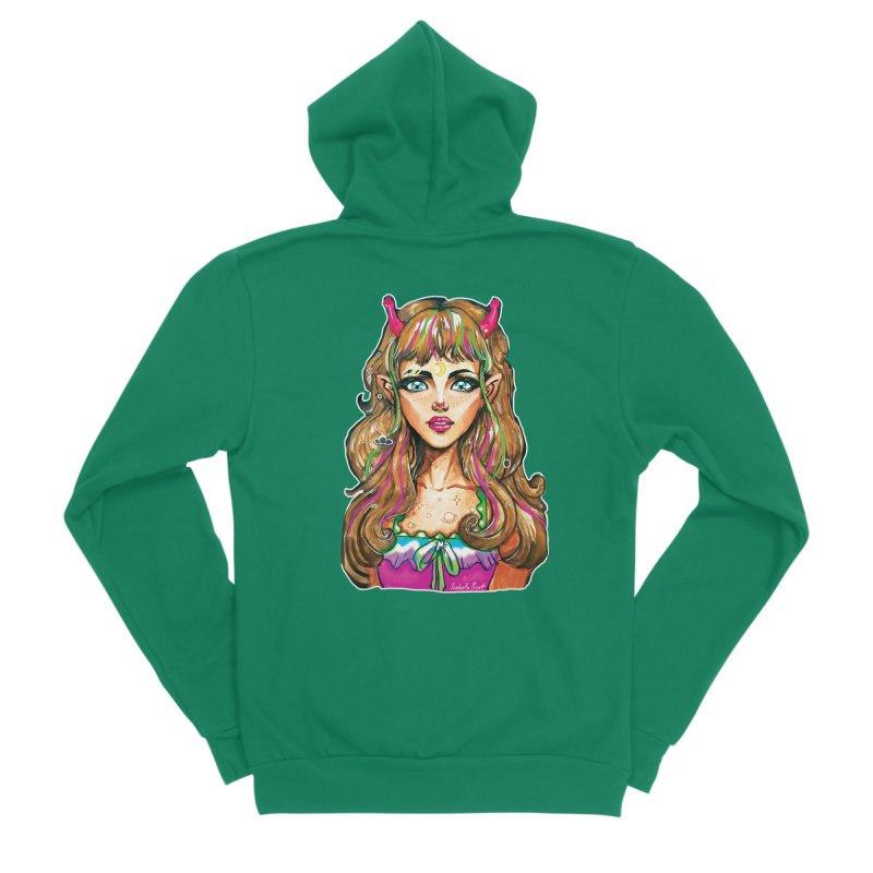 Alien girl Men's Sponge Fleece Zip-Up Hoody by isabellaprint's Artist Shop