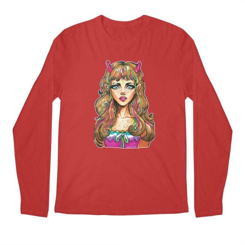 Alien girl Men's Regular Longsleeve T-Shirt by isabellaprint's Artist Shop