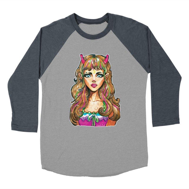 Alien girl Women's Baseball Triblend Longsleeve T-Shirt by isabellaprint's Artist Shop