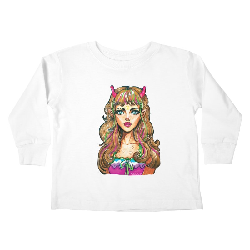 Alien girl Kids Toddler Longsleeve T-Shirt by isabellaprint's Artist Shop