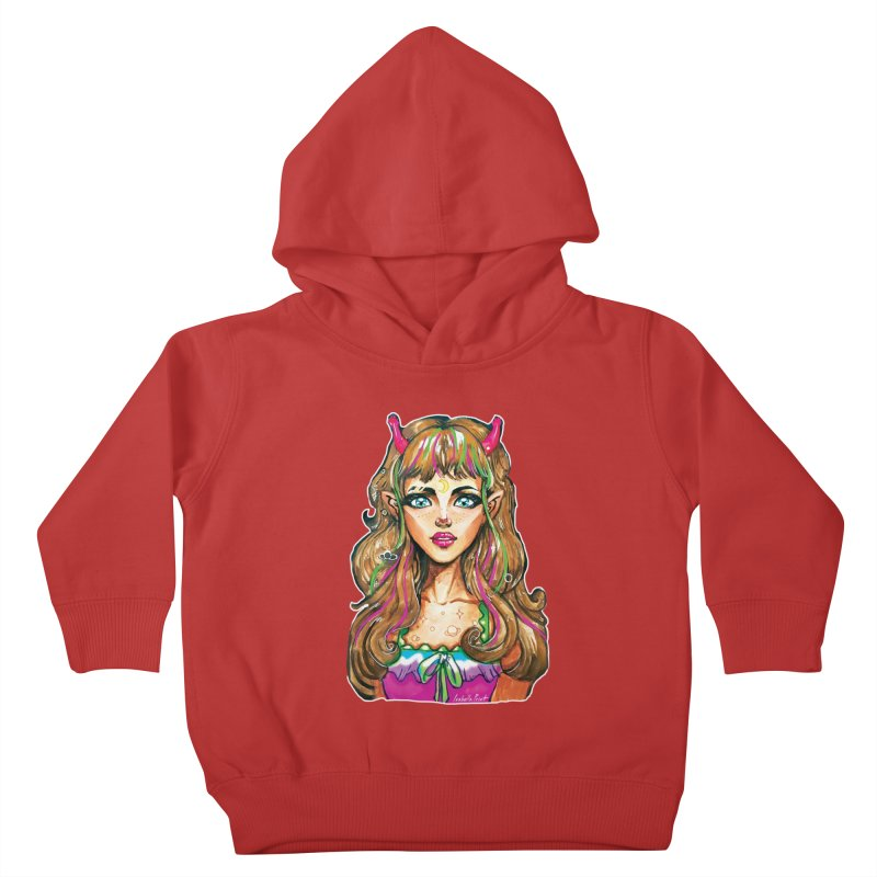Alien girl Kids Toddler Pullover Hoody by isabellaprint's Artist Shop