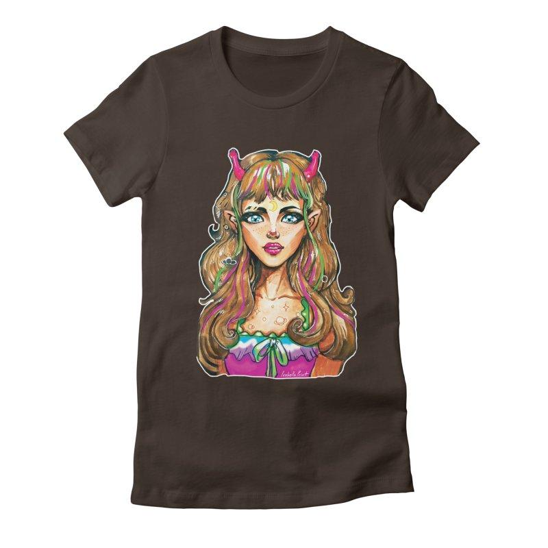 Alien girl Women's Fitted T-Shirt by isabellaprint's Artist Shop