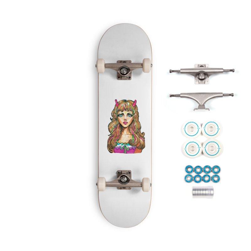 Alien girl Accessories Complete - Basic Skateboard by isabellaprint's Artist Shop