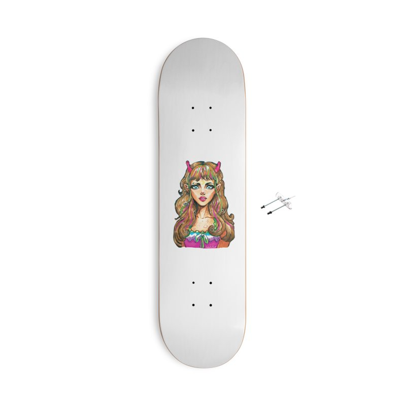 Alien girl Accessories With Hanging Hardware Skateboard by isabellaprint's Artist Shop