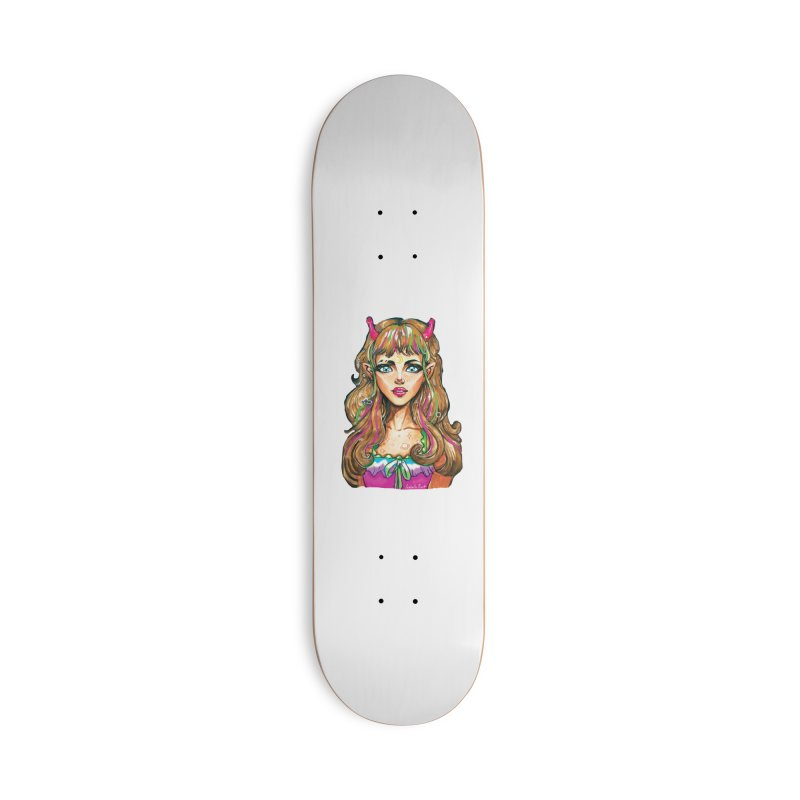 Alien girl Accessories Deck Only Skateboard by isabellaprint's Artist Shop