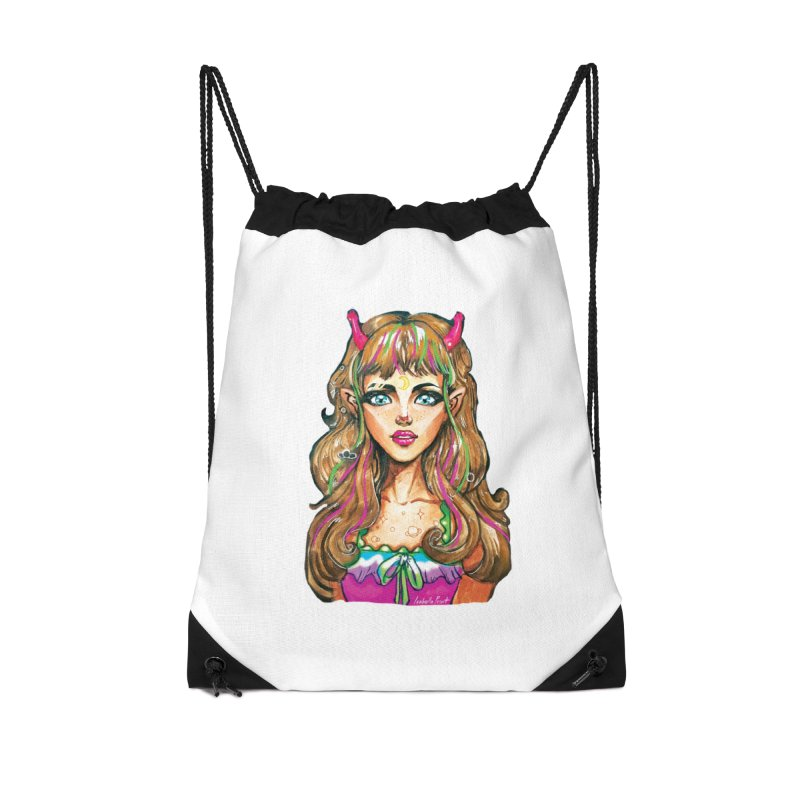 Alien girl Accessories Drawstring Bag Bag by isabellaprint's Artist Shop