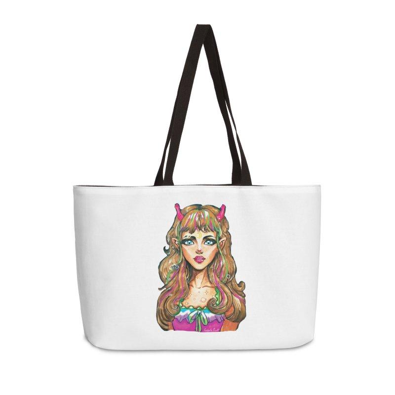 Alien girl Accessories Weekender Bag Bag by isabellaprint's Artist Shop
