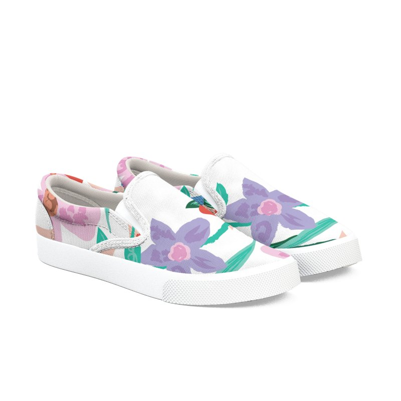Spring Women's Slip-On Shoes by isabellaprint's Artist Shop