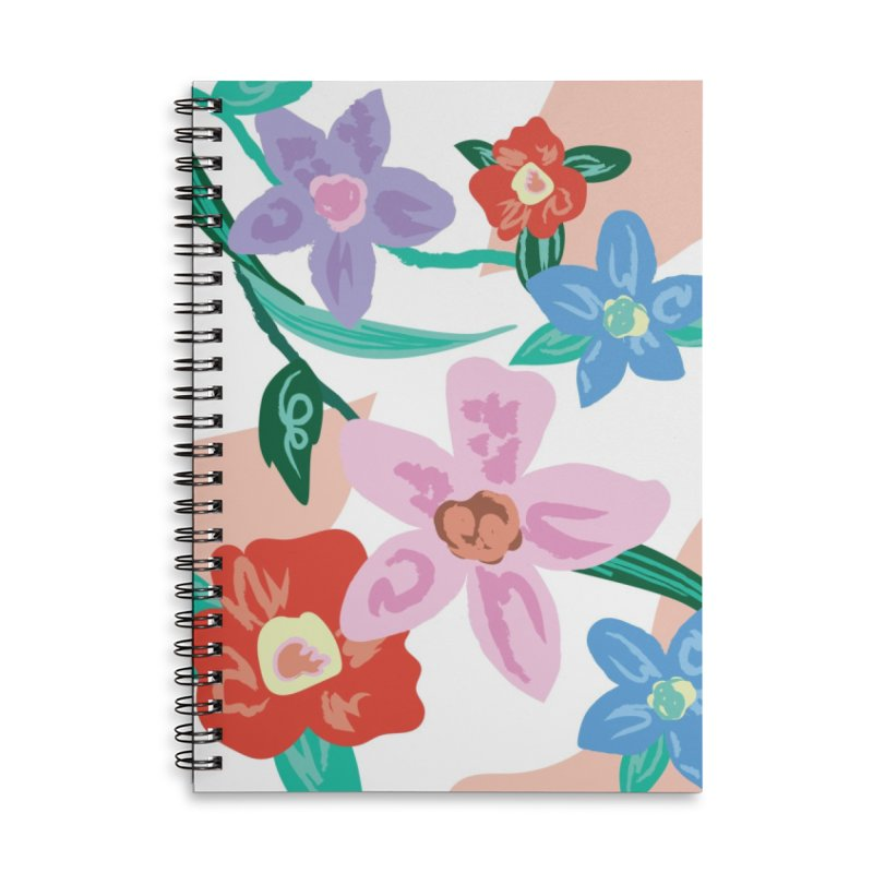 Spring Accessories Lined Spiral Notebook by isabellaprint's Artist Shop