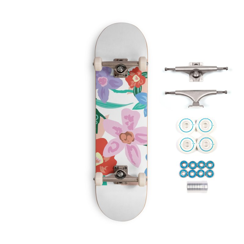 Spring Accessories Skateboard by isabellaprint's Artist Shop