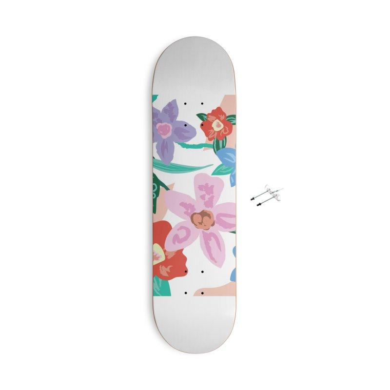 Spring Accessories With Hanging Hardware Skateboard by isabellaprint's Artist Shop