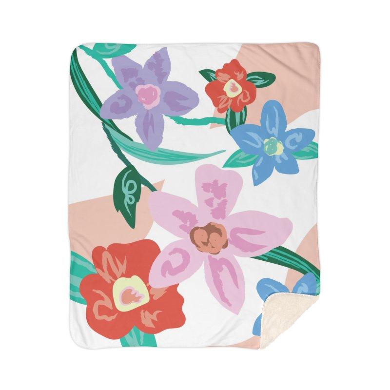 Spring Home Sherpa Blanket Blanket by isabellaprint's Artist Shop
