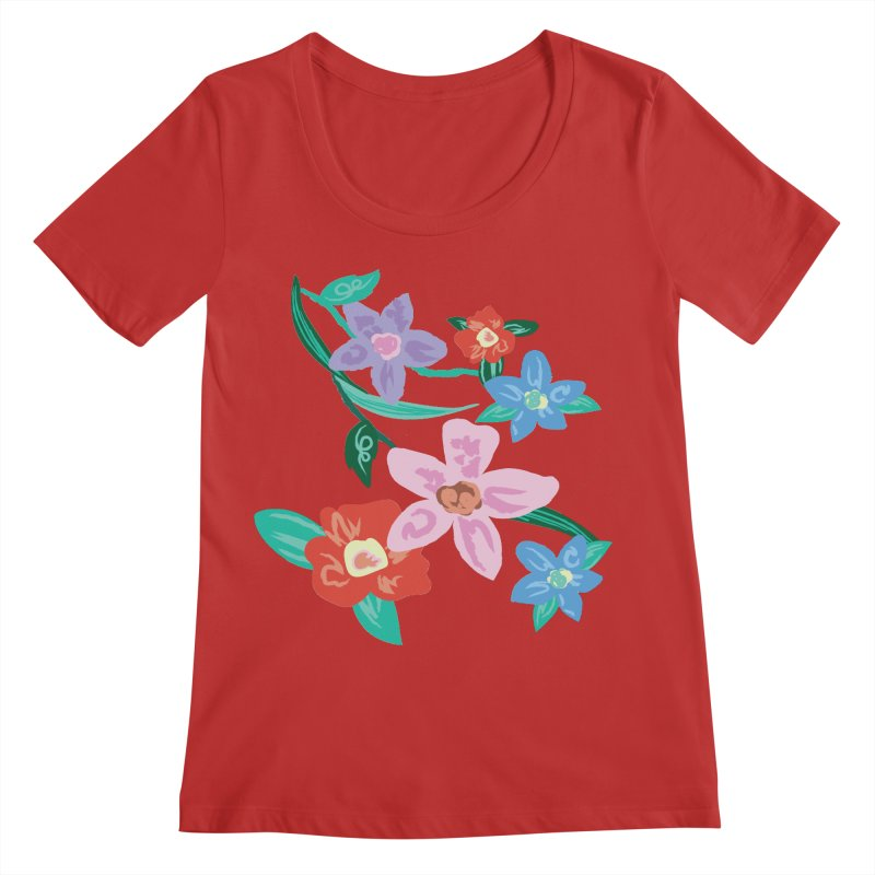 Spring Women's Regular Scoop Neck by isabellaprint's Artist Shop