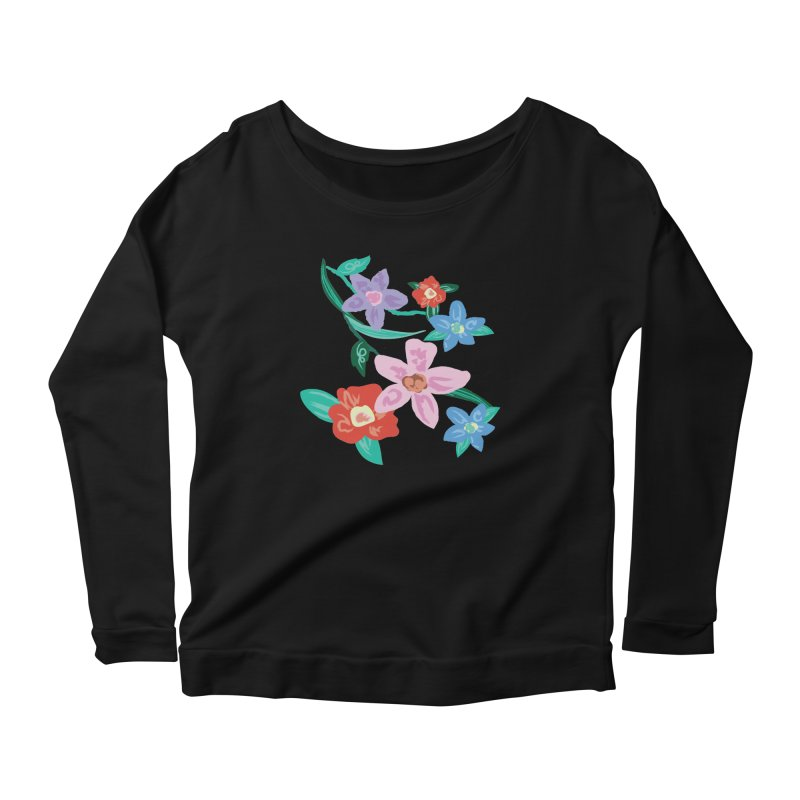 Spring Women's Scoop Neck Longsleeve T-Shirt by isabellaprint's Artist Shop