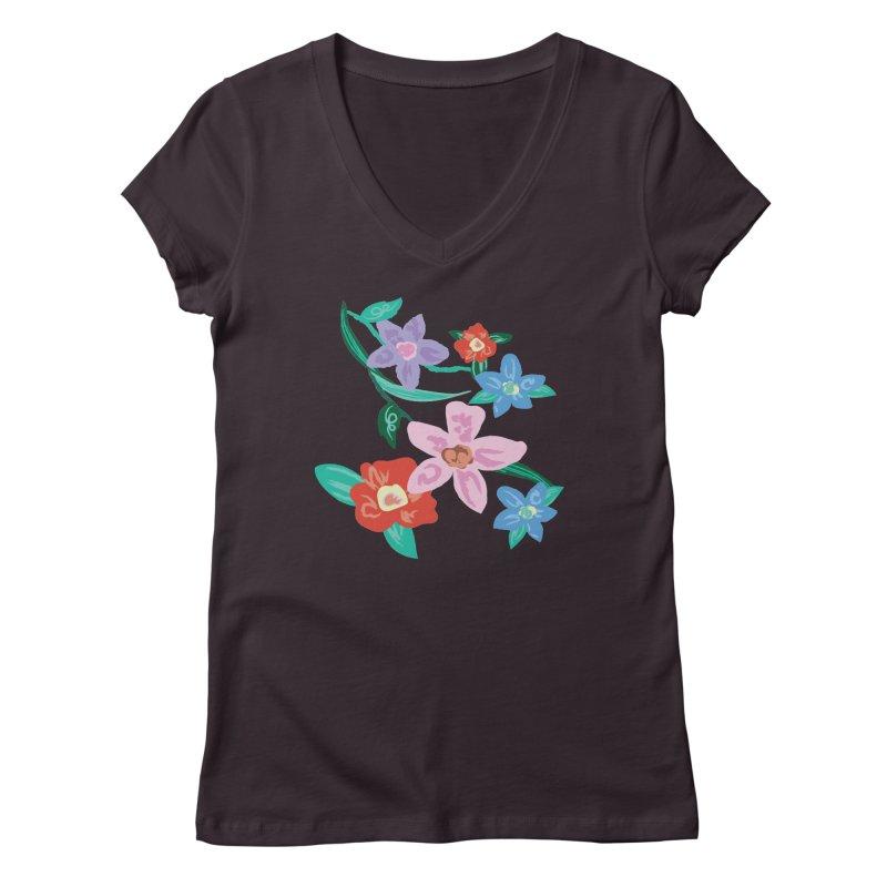 Spring Women's Regular V-Neck by isabellaprint's Artist Shop