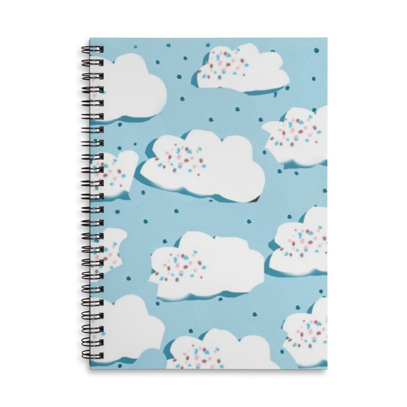 Sweet Clouds Accessories Lined Spiral Notebook by isabellaprint's Artist Shop