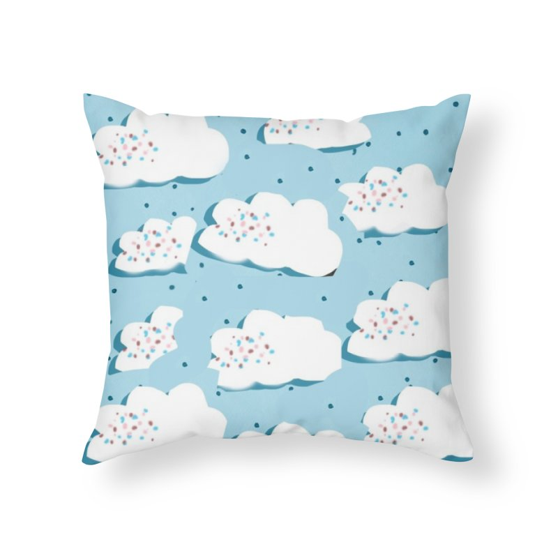 Sweet Clouds Home Throw Pillow by isabellaprint's Artist Shop