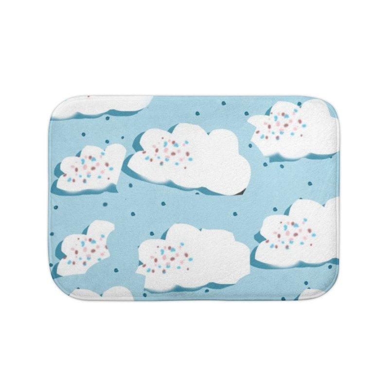 Sweet Clouds Home Bath Mat by isabellaprint's Artist Shop