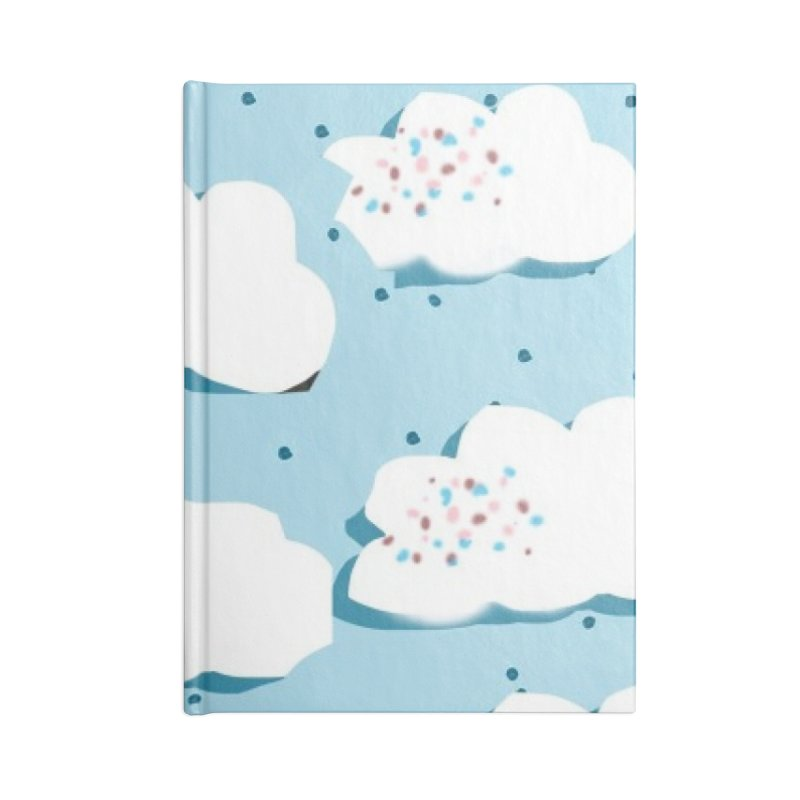 Sweet Clouds Accessories Lined Journal Notebook by isabellaprint's Artist Shop