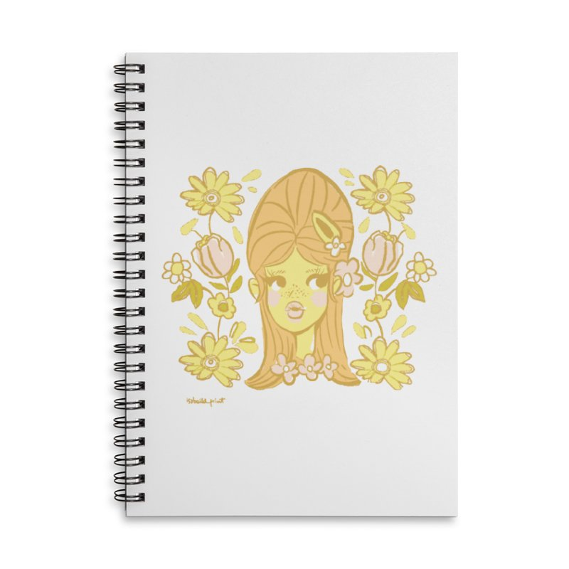 Retro Baby Accessories Notebook by isabellaprint's Artist Shop