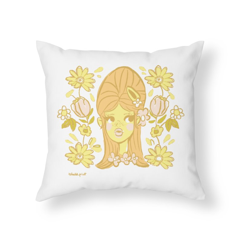 Retro Baby Home Throw Pillow by isabellaprint's Artist Shop