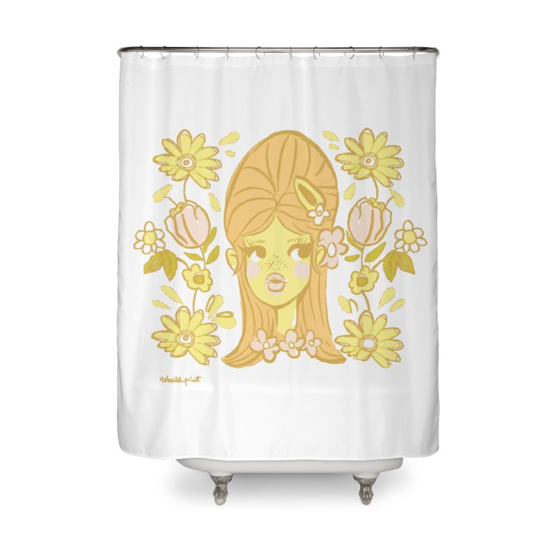 Retro Baby Home Shower Curtain by isabellaprint's Artist Shop