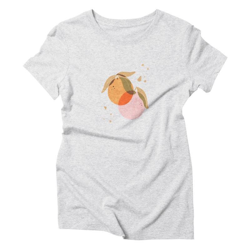 orange twins Women's T-Shirt by isabellaprint's Artist Shop