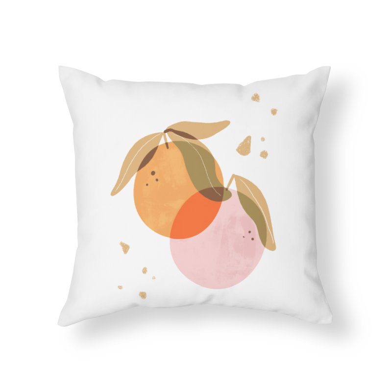 orange twins Home Throw Pillow by isabellaprint's Artist Shop