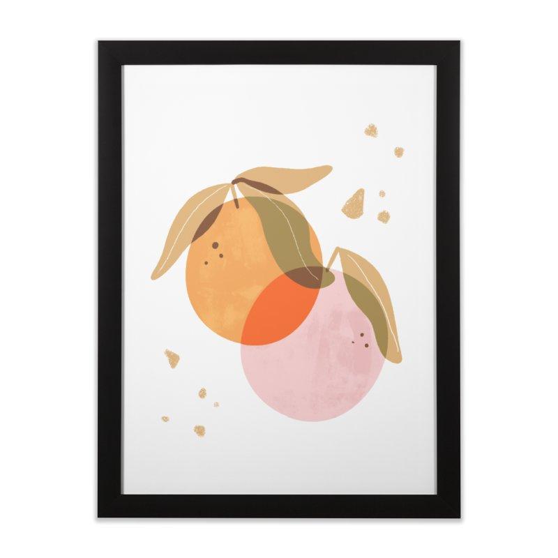 orange twins Home Framed Fine Art Print by isabellaprint's Artist Shop