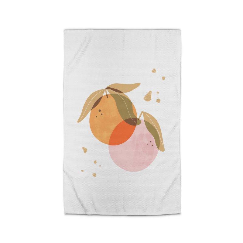 orange twins Home Rug by isabellaprint's Artist Shop