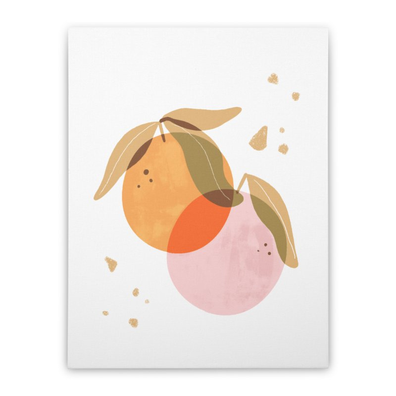 orange twins Home Stretched Canvas by isabellaprint's Artist Shop