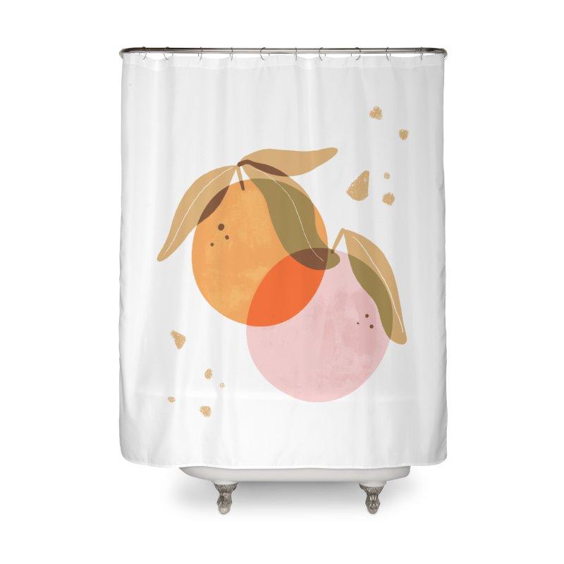 orange twins Home Shower Curtain by isabellaprint's Artist Shop