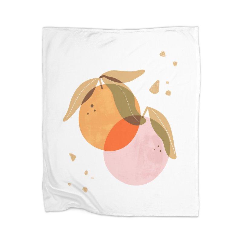 orange twins Home Blanket by isabellaprint's Artist Shop