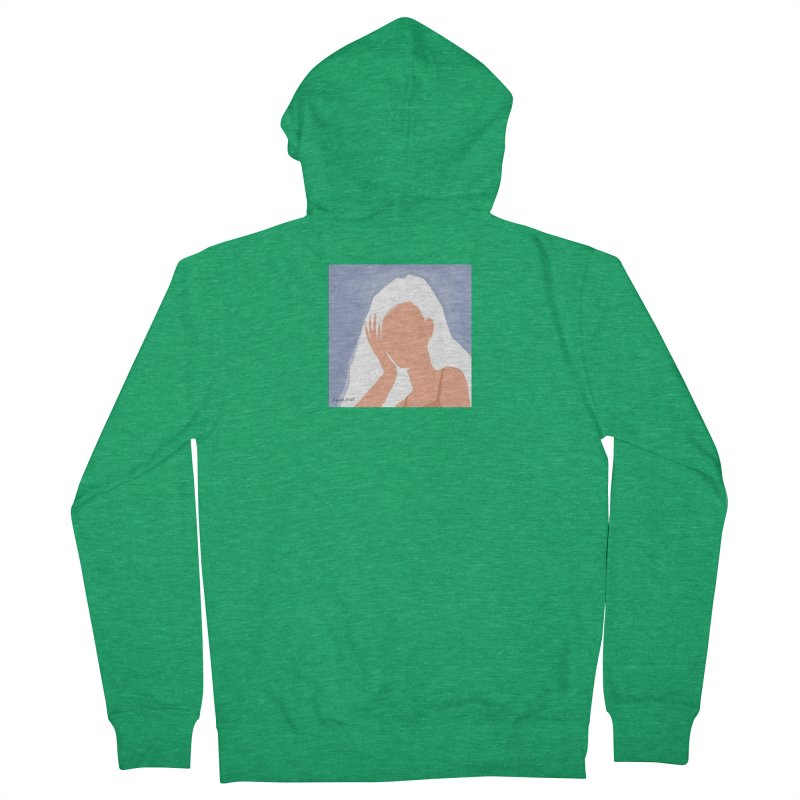 Miss you Women's Zip-Up Hoody by isabellaprint's Artist Shop