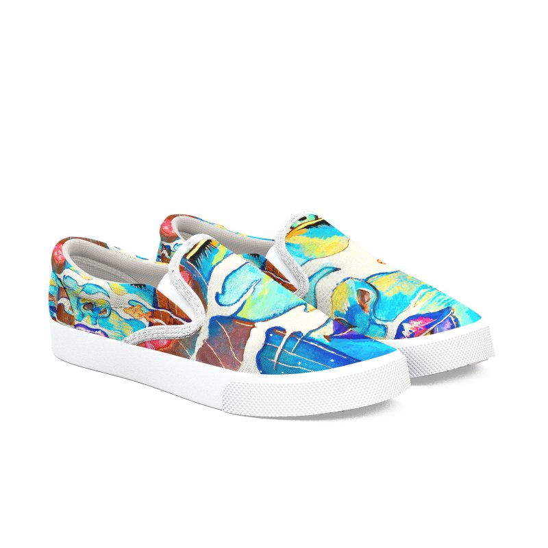Blue Mermaid Prints Women's Slip-On Shoes by isabellaprint's Artist Shop