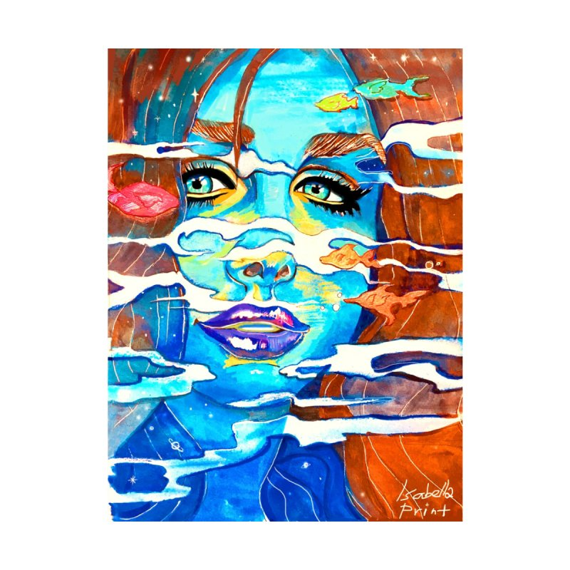 Blue Mermaid Prints by isabellaprint's Artist Shop