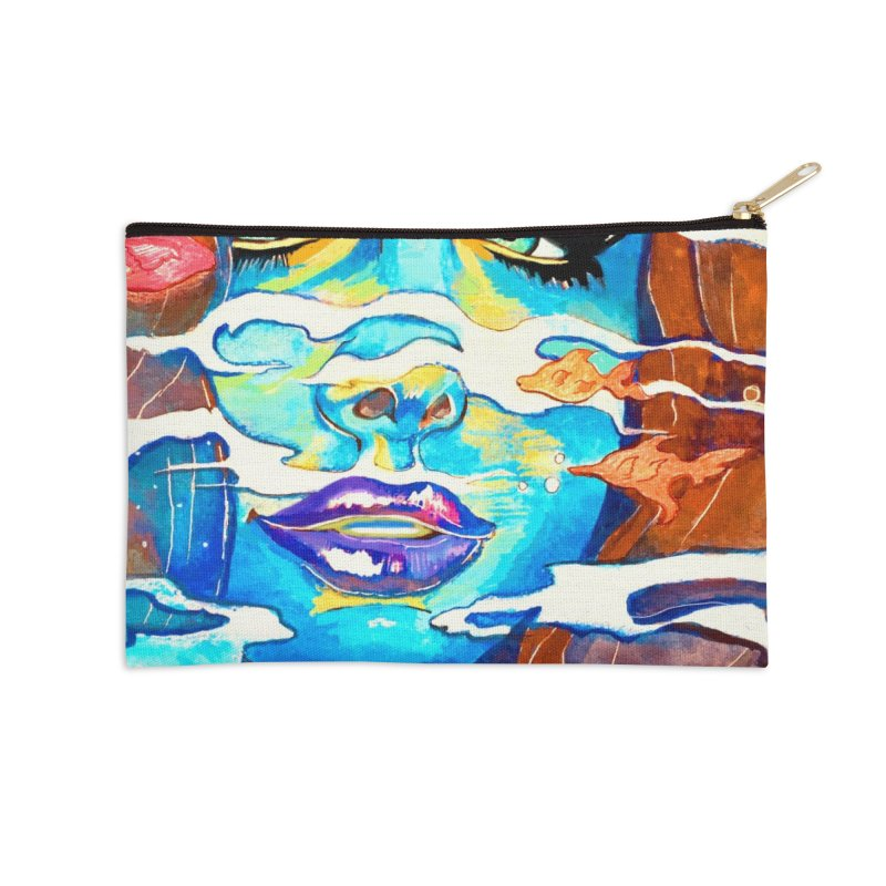 Blue Mermaid Prints Accessories Zip Pouch by isabellaprint's Artist Shop