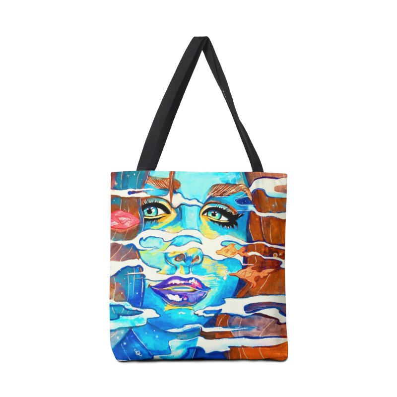 Blue Mermaid Prints Accessories Tote Bag Bag by isabellaprint's Artist Shop
