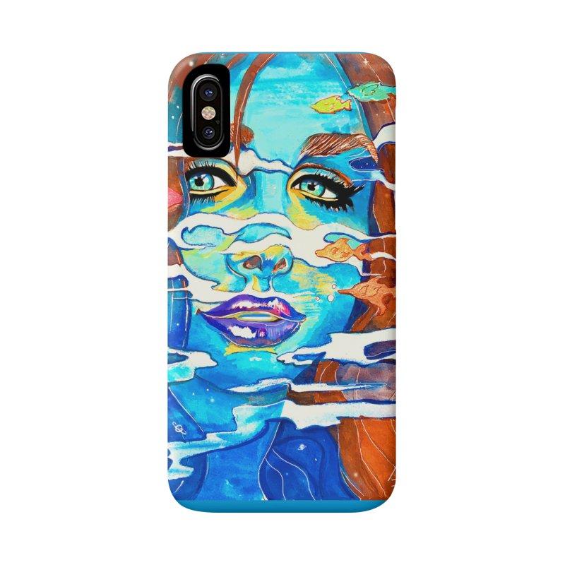 Blue Mermaid Prints Accessories Phone Case by isabellaprint's Artist Shop