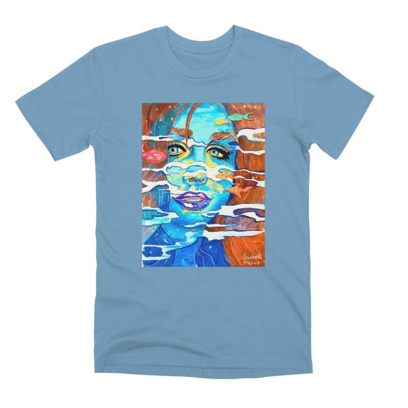 Blue Mermaid Prints Men's Premium T-Shirt by isabellaprint's Artist Shop
