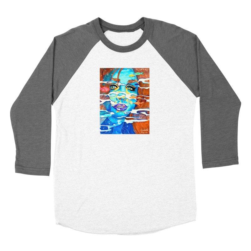 Blue Mermaid Prints Women's Longsleeve T-Shirt by isabellaprint's Artist Shop