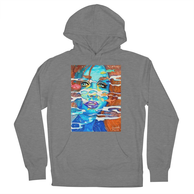 Blue Mermaid Prints Women's French Terry Pullover Hoody by isabellaprint's Artist Shop