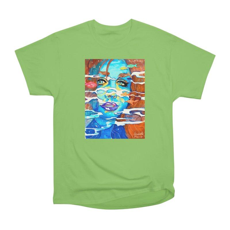 Blue Mermaid Prints Men's Heavyweight T-Shirt by isabellaprint's Artist Shop