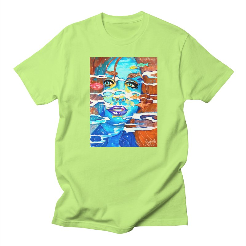 Blue Mermaid Prints Men's T-Shirt by isabellaprint's Artist Shop