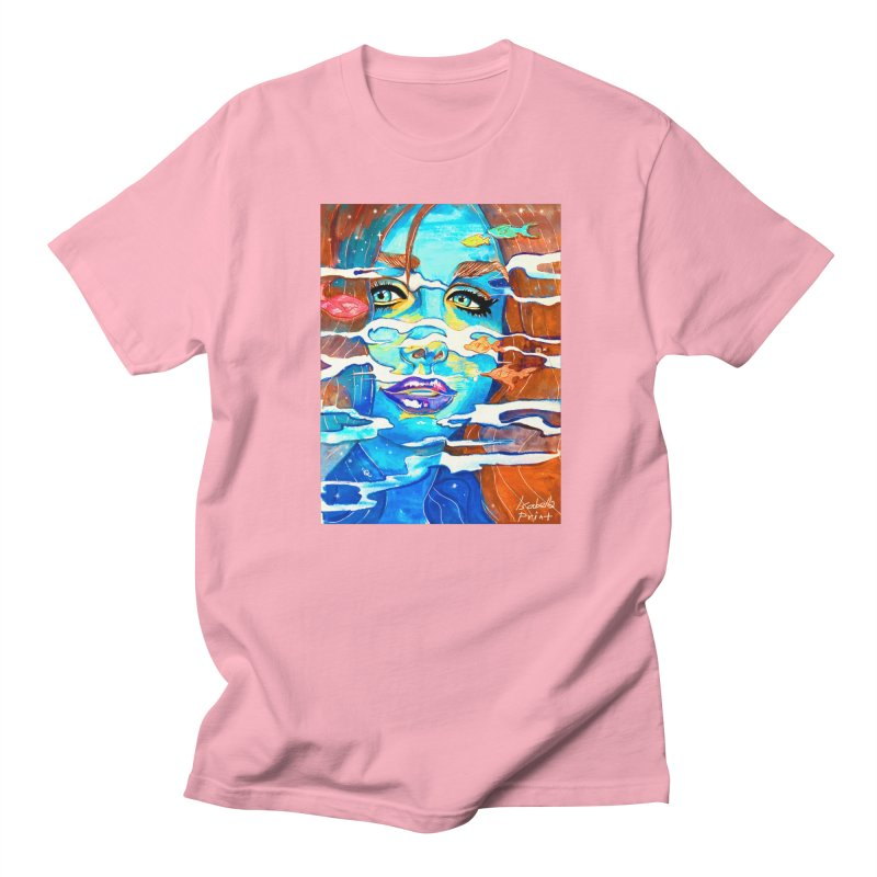 Blue Mermaid Prints Men's T-Shirt by isabellaprint's Artist Shop