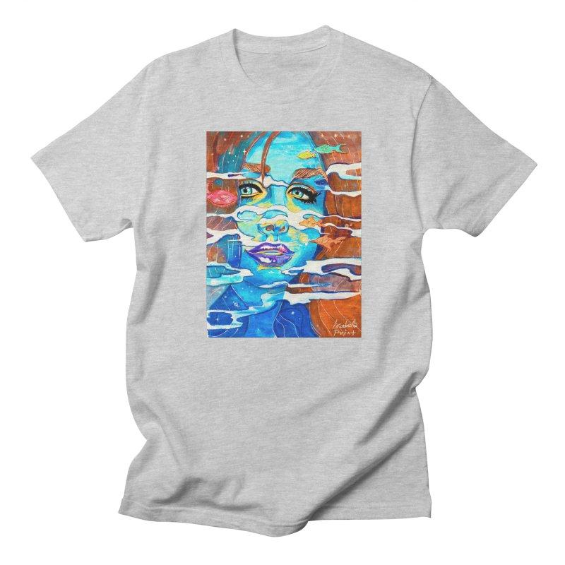 Blue Mermaid Prints Men's Regular T-Shirt by isabellaprint's Artist Shop