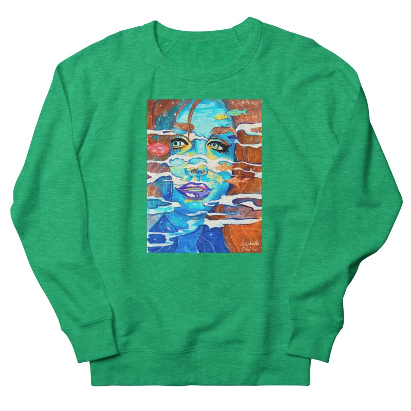 Blue Mermaid Prints Women's Sweatshirt by isabellaprint's Artist Shop