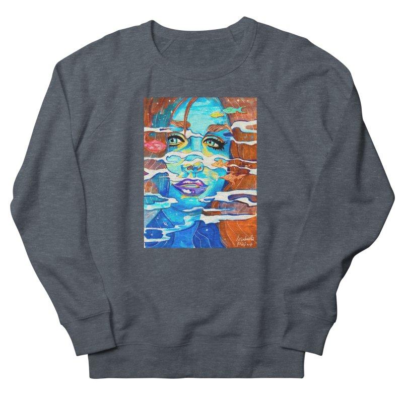 Blue Mermaid Prints Women's French Terry Sweatshirt by isabellaprint's Artist Shop