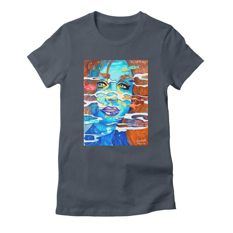 Blue Mermaid Prints Women's T-Shirt by isabellaprint's Artist Shop